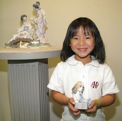 "Annika with her favorite Lladro - ""Can't Wait"""