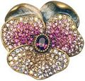Jay Strongwater Pansy Pin