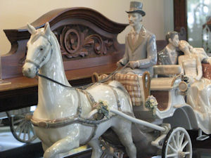 "Lladro ""Bridal Carriage"" on display at Nielsens Gifts"
