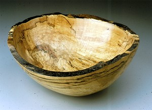 Peterman Spalted Maaple Oval Bowl