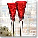 Waterford Red toasting flutes