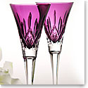 Waterford new Amethyst flutes