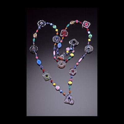 Chrissie Farrar - Furnace Glass Necklace